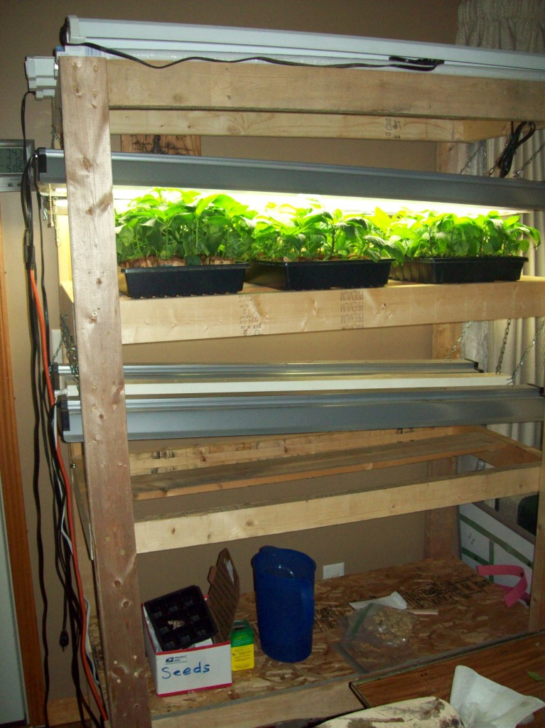 grow light shelf